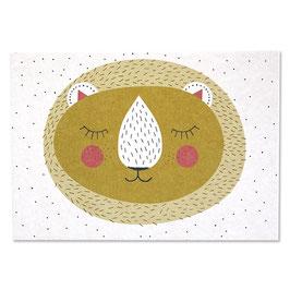 Postkarte LOVELY LION (Ava & Yves)