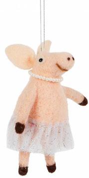 Filzanhänger BALLERINA PIG (Sass & Belle)