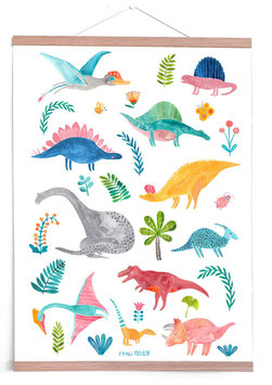 Poster Dinosaurier (50x70cm)