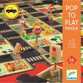 Bespielbares Bodenpuzzle Die Stadt - 24 Teile (Djeco)