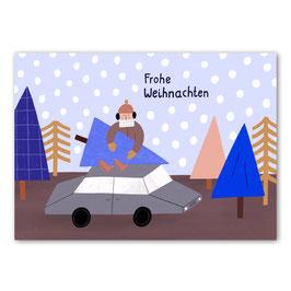 """Postkarte """"Frohe Weihnachten"""" Baum (Rasmussons)"""