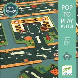 Bespielbares Bodenpuzzle Die Stadt - 21 Teile (Djeco)