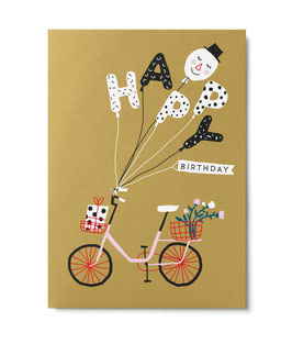 "Postkarte ""Happy Birthday Bike"" (Unter Pinien)"