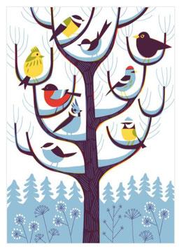 """Postkarte Vogelbaum  """"Talvipuu"""" (Kehvola)"""