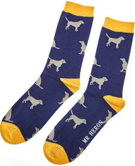Bambus Socken RETRIEVER (Mr Heron) 42-45 BLAU