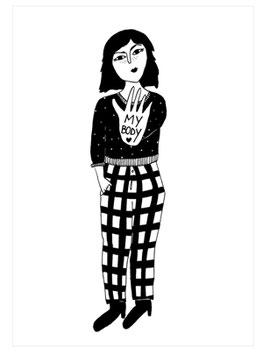 """Postkarte """"LOVE MY BODY"""" (Helen B)"""