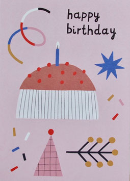 "Postkarte ""Happy Birthday CAKE"" (Rasmussons)"