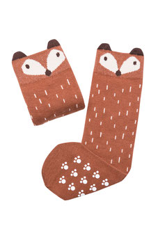 Socken Sneaky Fox BROWN (Baby bis Mama)