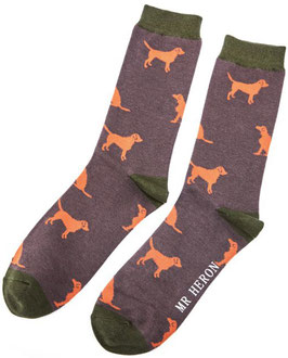 Bambus Socken RETRIEVER (Mr Heron) 42-45 GRAU