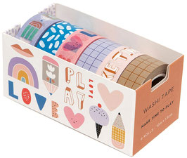 6 Washi Tapes Make time to play (PETIT MONKEY)