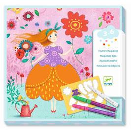 "Malset ""Marie's Pretty Dresses"" (DJECO) mit Zauberstiften"