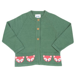 Strickjacke Biobaumwolle FOXY GREEN (Kite)