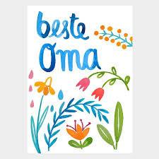 """Postkarte """"BESTE OMA"""" (Frau Ottilie)"""