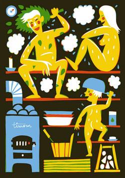 """Postkarte """"SAUNA"""" (Kehvola)"""
