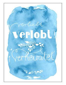 """Postkarte """"VERLOBUNG"""""""