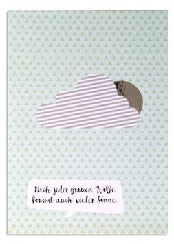 """Postkarte """"Kommt auch wieder Sonne"""" (Rasmussons)"""