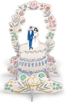 """PopUp mit Grußkarte """"Hochzeitstorte"""" (Lasercut)"""