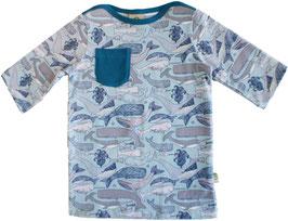 Bio 3/4 Sleeve Shirt SAMU whale