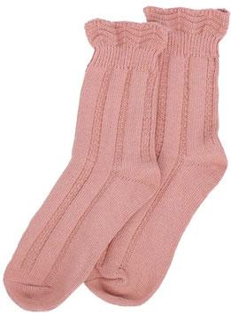 Forever England Socken Ruffle Top ROSÉ Gr. 36-40
