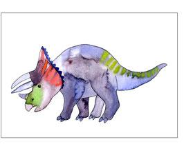 "Postkarte ""Triceratops"""