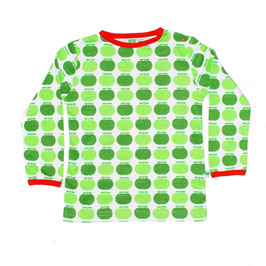 Bio Langarmshirt GREEN APPLE (Sture&Lisa)