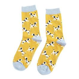 Bambus Socken DALMATINER mustard (Miss Sparrow) 37-42