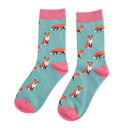 Bambus Socken FOX aquagreen (Miss Sparrow) 37-42