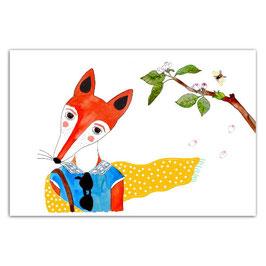 """Postkarte """"Fuchsdame"""" (Ottilie)"""