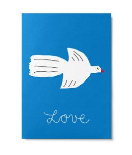 "Postkarte ""Love"" (Unter Pinien)"