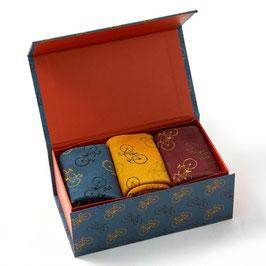 Giftbox 3 Paar Socken Bamboo LITTLE BIKES Gr. 42-46