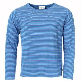 Bio Langarm-Shirt THEO STRIPES BLUE JERSEY (Munoman)
