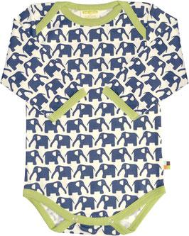 Langarmbody Elefanten MARINE (loud + proud)