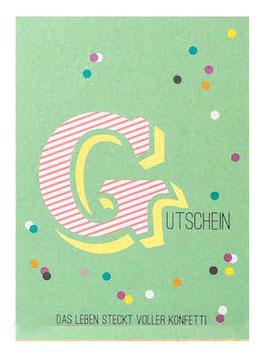 """Postkarte """"GUTSCHEIN"""" (Rasmussons)"""