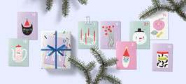 DIY Adventskalender 24 Mini Kärtchen (Unter Pinien)