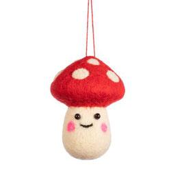 Filz Weihnachtshänger Smiley Mushroom (Sass & Belle)