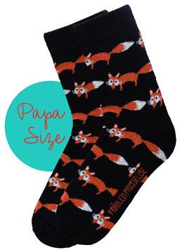 Bio Socken Fuchs (PAPA) schwarz