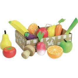 Obst und Gemüse Set aus Holz (Vilac)