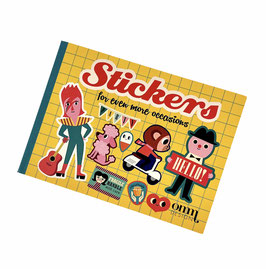 Hunderte Aufkleber im Stickerbuch GELB
