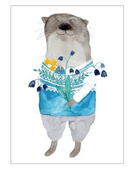 "Postkarte ""Ottergrüße"""