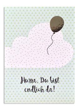 "Postkarte ""HURRA, Endlich bist du da"" (Rasmussons)"