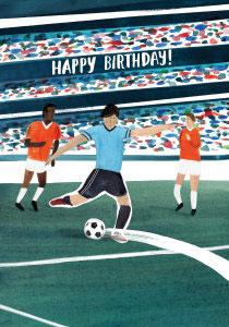 """Klappkarte zum Geburtstag """"Fußball"""""""