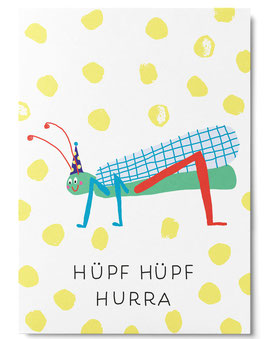 Postkarte HÜPF HÜPF HURRA (Unter Pinien)