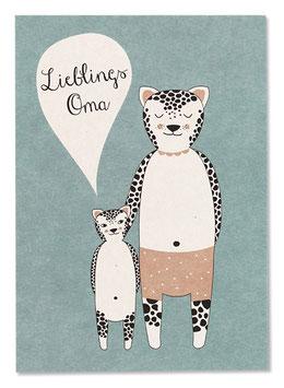 Postkarte LIEBLINGSOMA (Ava & Yves)