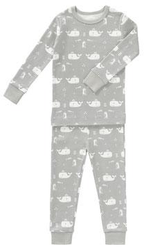 Bio Schlafanzug WALE Fresk) grau