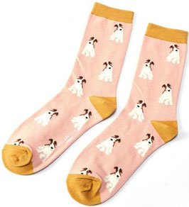 Bambus Socken  FOX TERRIER dusky rose (Miss Sparrow) 37-41