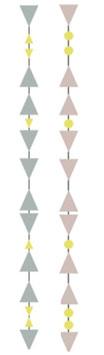Papier Girlande Triangle FOGGY BLUE oder MAUVE gold (Fabelab)