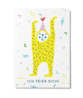 "Postkarte ""Ich feier dich"" (Unter Pinien)"