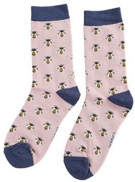 Bambus Socken  HONEYBEES puderrosa (Miss Sparrow) 37-42