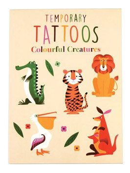 Kinder Tattoos Zootiere