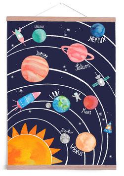 Poster Planetensystem (50x70cm)
